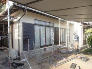 外壁塗装 足場解体