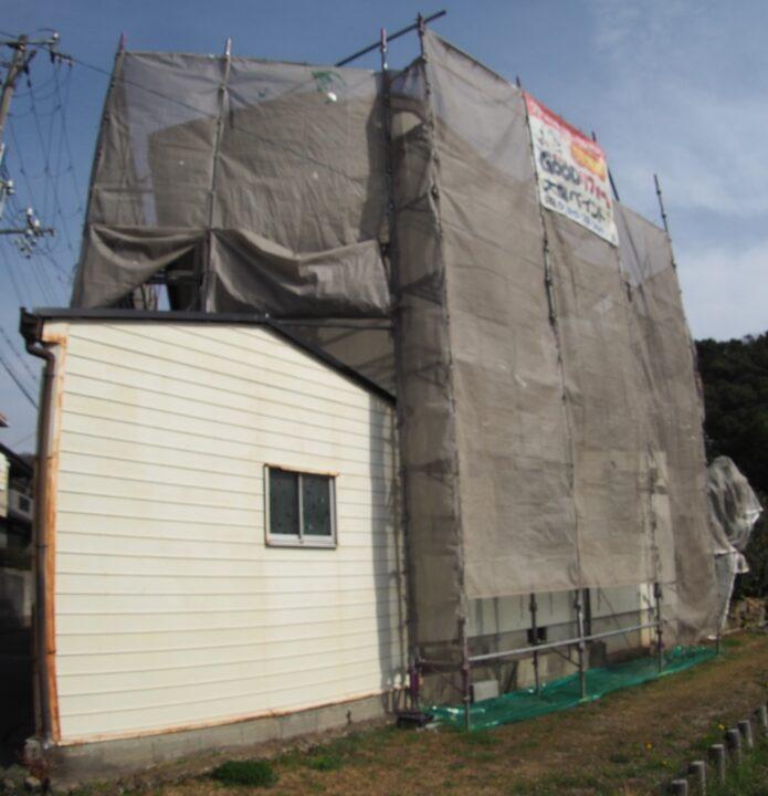 外壁塗装・屋根塗装足場組み