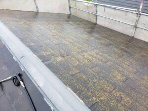 屋根塗装工事 屋根高圧洗浄前