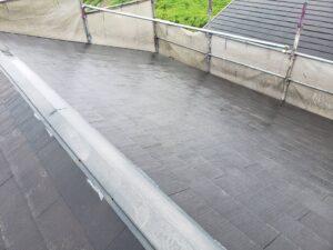 屋根塗装工事 屋根高圧洗浄後