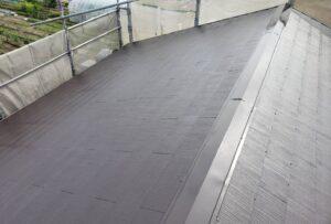 屋根塗装上塗り完了