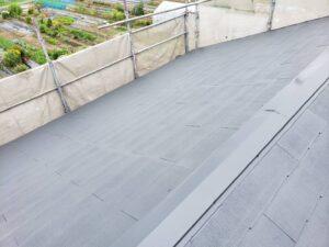 屋根塗装 中塗り後